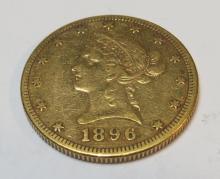1896 S $ 10 Gold Liberty Eagle
