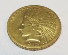1912 s $ 10 Gold Indian Eagle