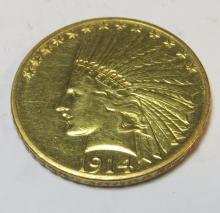 1914 D $10 Gold Indian Eagle