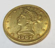 1907 $ 10 Gold Liberty Eagle