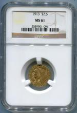 1913 $ 2.5 Gold Indian NGC MS 61