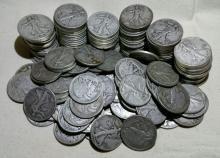 Lot of 100 Walking Liberty Half Dollars 90% Silver