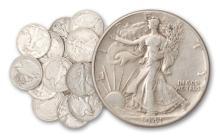 Lot of (20) 90% Silver Walking Liberty Halves