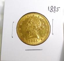 1885 $ 10 Gold Liberty