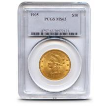 1905 MS 63 $ 10 Gold Liberty PCGS