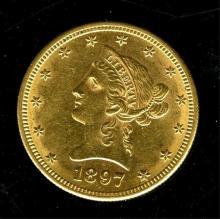 1897 S $ 10 Gold Liberty Eagle