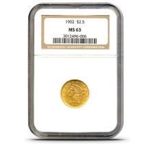 1902 MS 62 NGC $ 2.5 Gold Liberty
