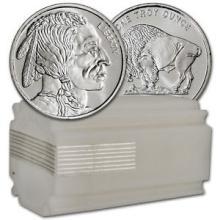 (20) Silver Rounds- Buffalo Design 1 oz. Each