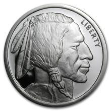 5 Oz. Silver Buffalo Design Round