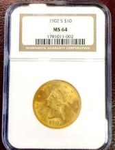1902 S $ 10 Gold Libertry - NGC