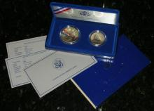 1986 Statue Of Liberty Proof 2 Pc. Commemorative