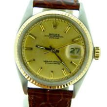 2 Tone Datejust ROLEX 14k/SS Gold Dial
