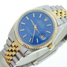 Blue Dial ROLEX 14k/ss  Fancy Watch