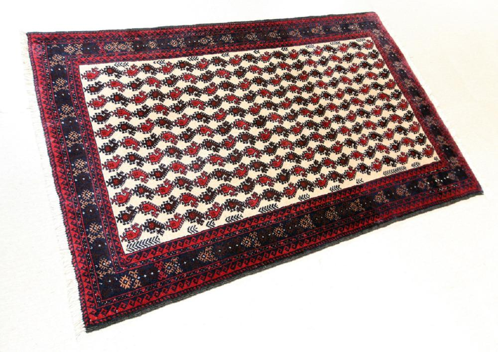 Unreserved Hand Knotted Persian Tribal Balouch Wool Size(cm): 170 X 104