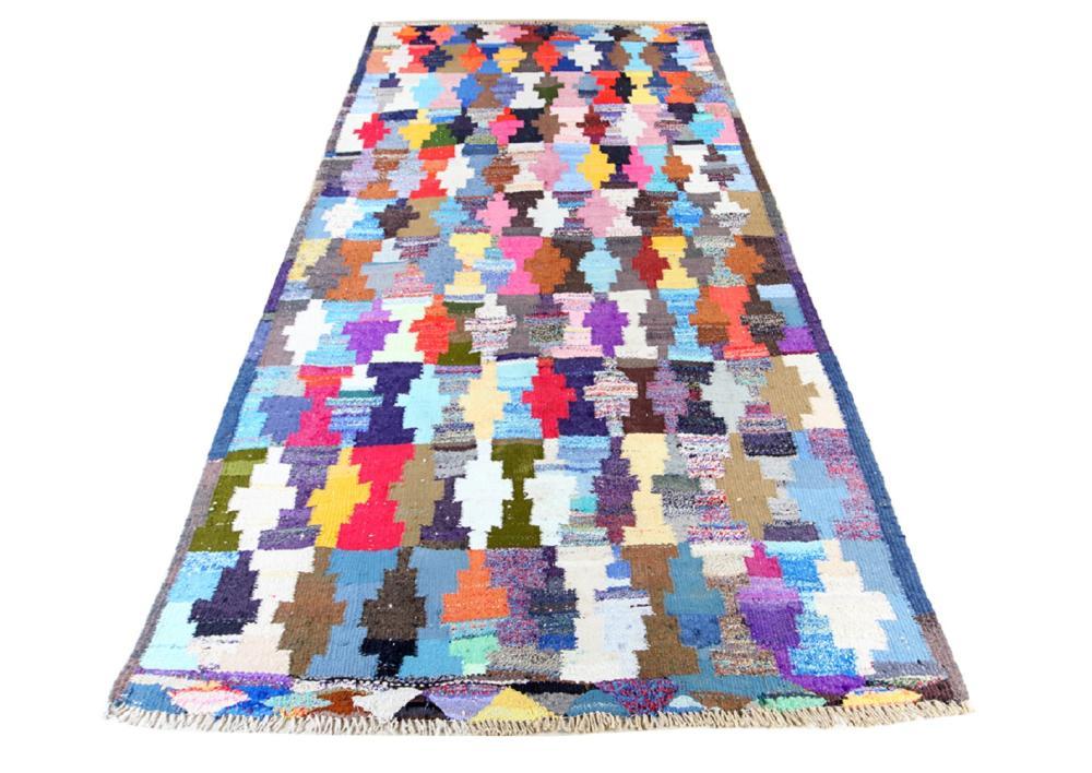 Unreserved Hand Woven Persian Kermanshah Kilim Natural Dys Wool Size(cm): 303 X 167