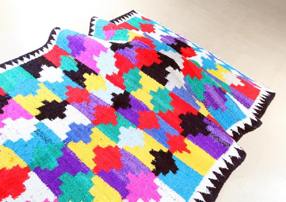 Unreserved Hand Woven Persian Kermanshah Kilim Natural Dys Wool Size(cm): 285 X 183