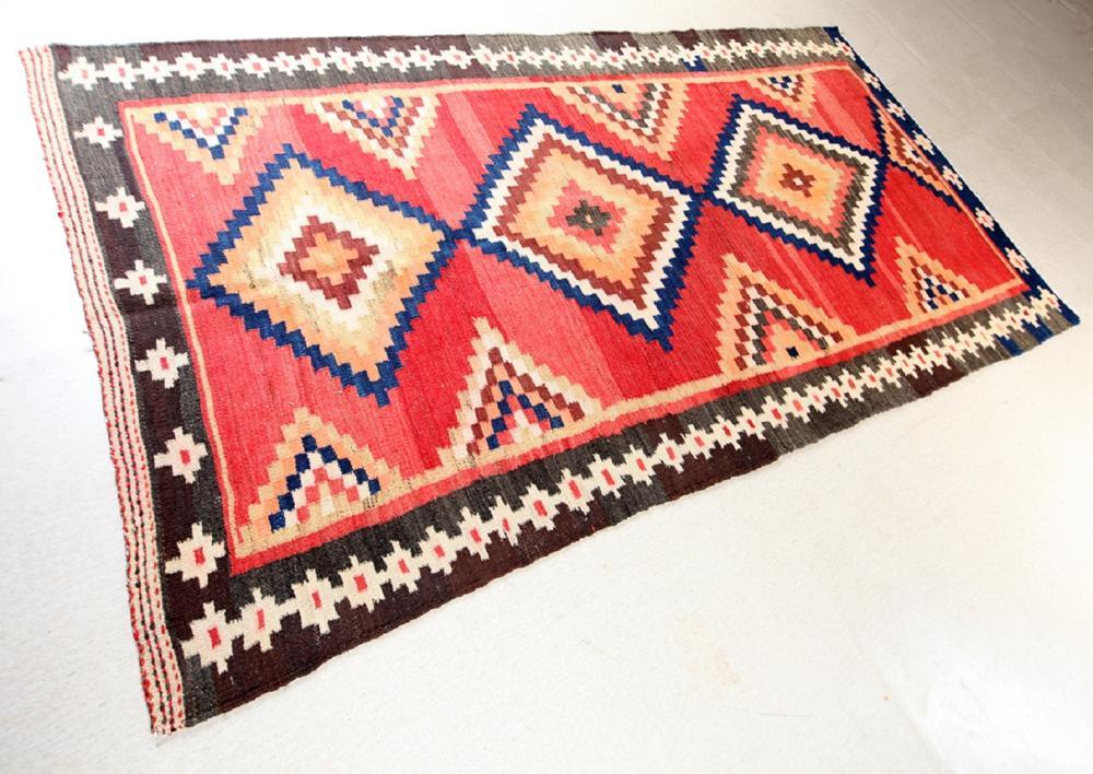 Unreserved Hand Woven Persian Azarbayjan Hashtrud Kilim Natural Dys Wool Size(cm): 280 X 150