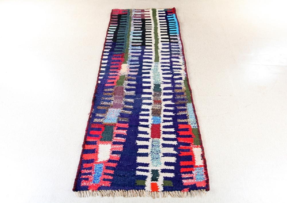 Unreserved Hand Woven Persian Azarbayjan Hashtrud Kilim Natural Dys Wool Size(cm): 240 X 80