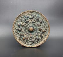 Chinese antiques exquisite Beast emblazonry bronze mirror