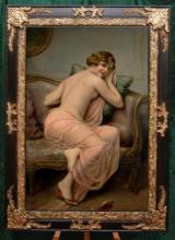 Old Master-Art Antique Oil Painting noblewoman nude girl on canvas 24