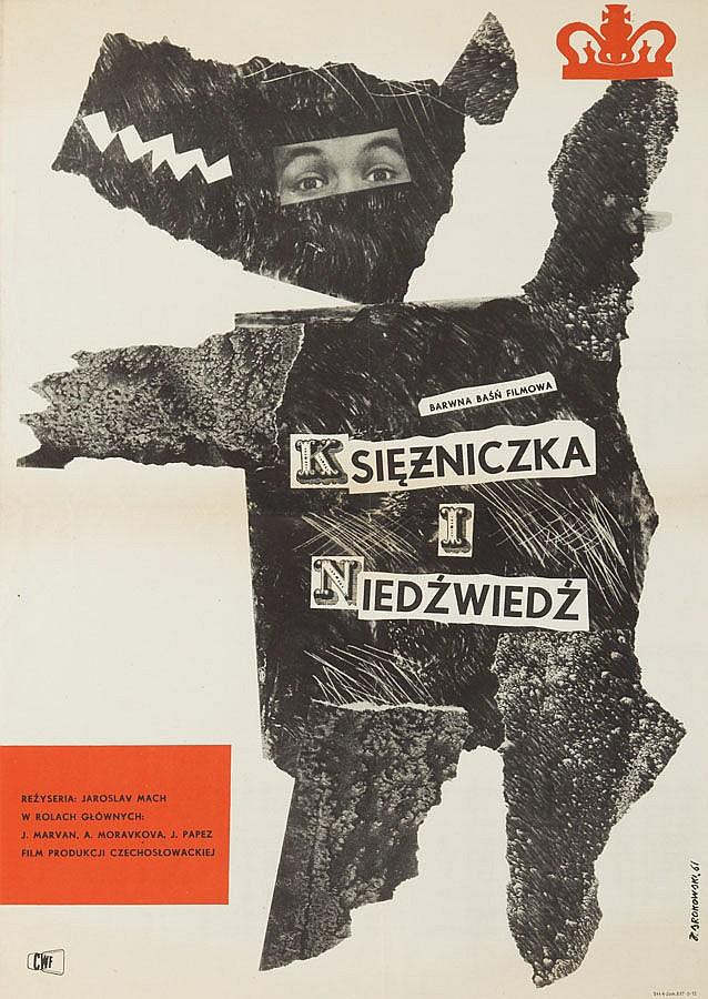 Jerzy Srokowski (1910 - 1975), Princess and a bear, 1961