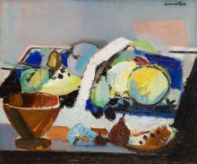 Rajmund Kanelba (Kanelbaum) (1897 - 1960) Still life with fruit