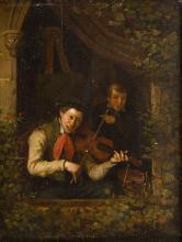 Hendrick Joseph Dillens (1812 - 1872) Artist and musician, 1840