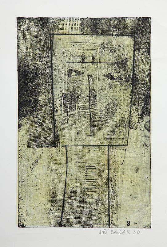 Jiri Balcar, CZŁOWIEK, 1960 R.; grafika,