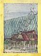Nikifor Krynicki, ZABUDOWANIA; akwarela/papier, 22,  Nikifor (1895), Click for value