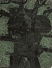 Stefan Suberlak (1928 - 1994) A Town - graphic matrix, 1965