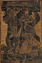 Stefan Suberlak (1928 - 1994) Carrying - wood-cut board recto-verso