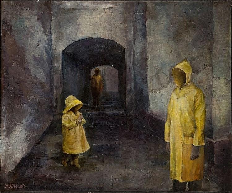 Adam Oron, Three yellow raincoats, 2015