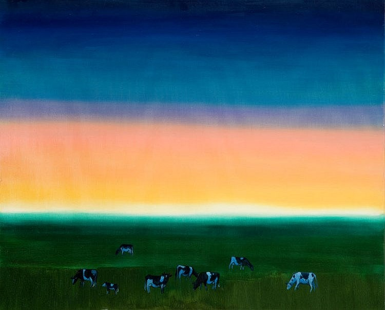 Magdalena Szilke, Cows at dusk, 2015