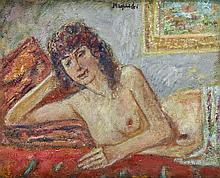Czeslaw Rzepinski (1905 - 1995) Lying Nude