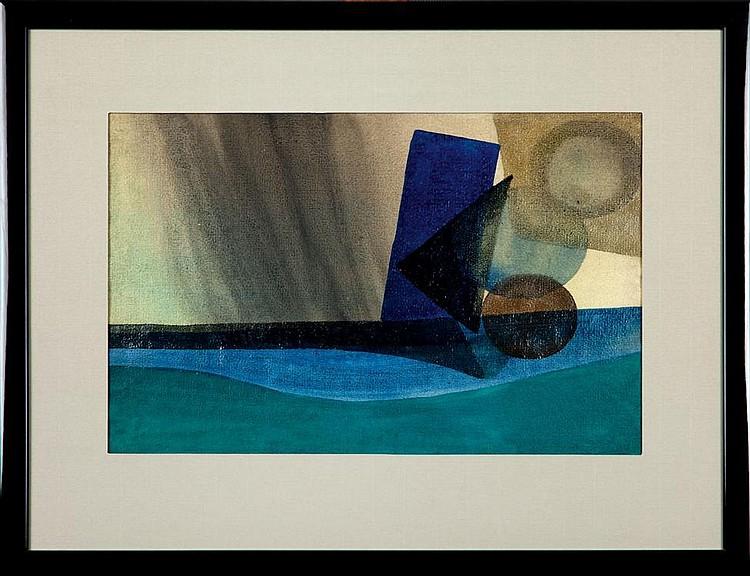Urszula Broll, Kompozycja abstrakcyjna papier, 28