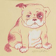 Zbigniew Lengren (1919 - 2003) A puppy, book illustration