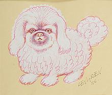 Zbigniew Lengren (1919 - 2003) Pekingese, book illustration, 1986