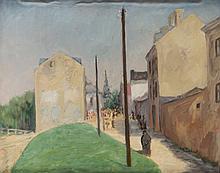 """Marek Oberländer (1922 - 1978) """"Sandomierz"""", 1947"""