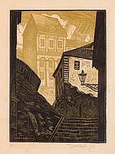 Tadeusz Cieslewski (son) (1895 - 1944), Old Town - Kamienne Schodki Street, 1935