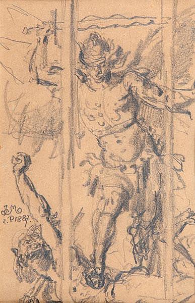 Jan Matejko  ARCHANIOŁ MICHAŁ ZWYCIĘŻAJĄCY SZATANA, 1887 R.