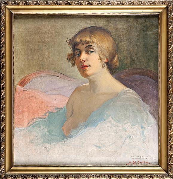 Michał Wiktor Czepita PORTRET EMMY SZUMAŃSKIEJ - MUSZKI, 1923 R.