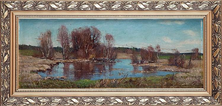 Stefan Domaradzki, Landscape (PEJZAŻ Z ROZLEWISKIEM)