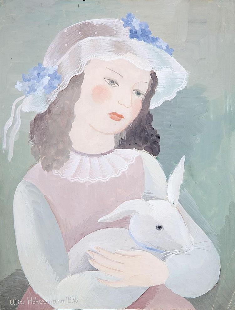 Alicja Hohermann, A Girl with a Rabbit (DZIEWCZYNKA Z KRÓLIKIEM, 1936 R.)