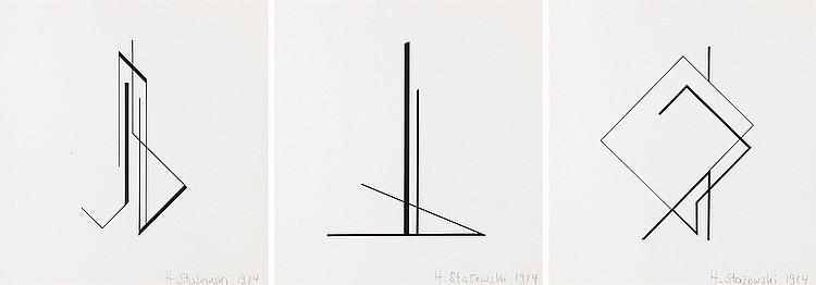Henryk Stazewski (1894 - 1988) Geometric Compositions: Triptych