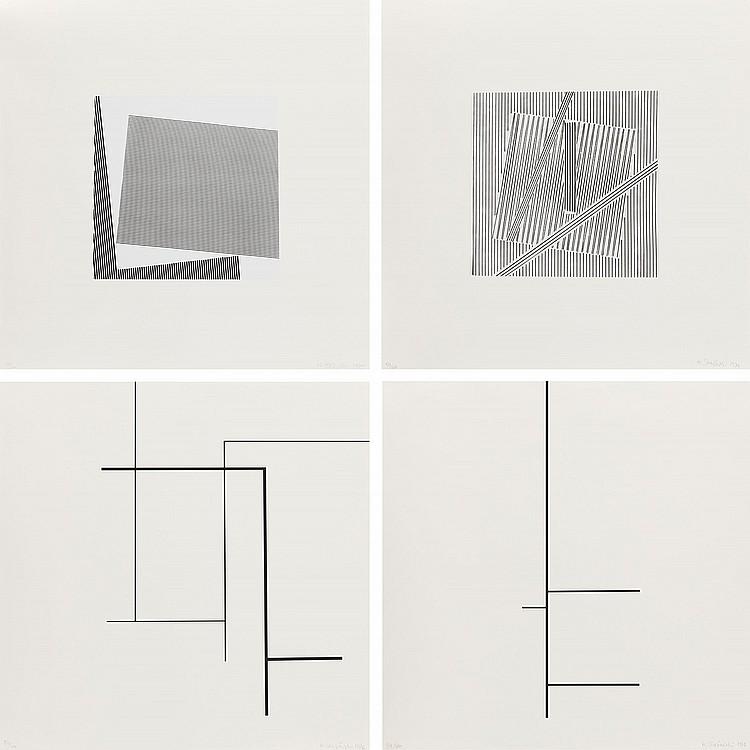 Henryk Stazewski (1894 - 1988) Four Silk-Screns from 1975-76