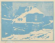 Tadeusz Cieslewski (syn) (1895 - 1944) Snow in Warsaw