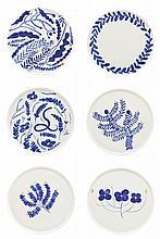 Agata Klimkowska, Tosia Kilis/FENEK STUDIO, Set of plates 'MAJ', 6 pieces, 2017