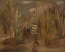 Leon Weissberg (1893 - 1943) Girl in garden, circa 1928