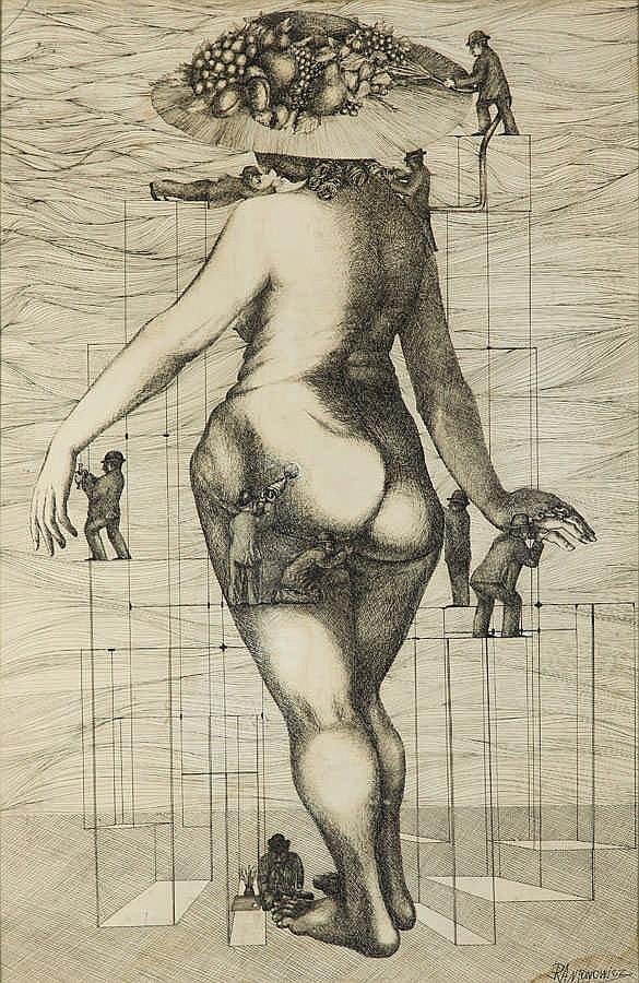 Ryszard Antonowicz (b. 1935) Female-garden, 1973