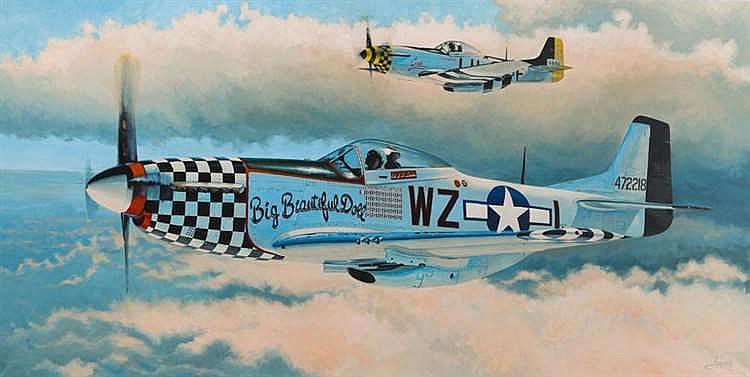 Lukasz Czernicki (b. 1980) Big Beautiful Doll, P-51 Mustang, 2017